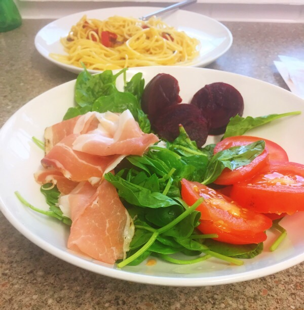 salad-with-Italian-speck